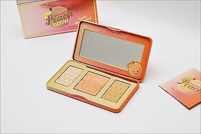 NEW! TOO FACED Sweet Peach Glow palette bronzer blusher highlighter 100% Genuine