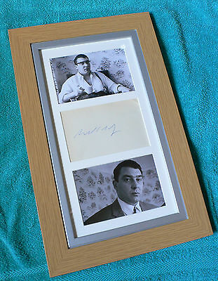 Ron Kray The Krays Kray Twins Signed Autograph Dave Courtney Mad Frankie Fraser