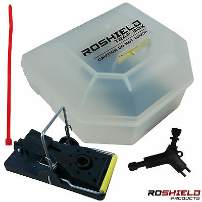 1 x Roshield Mouse / Mice Trap Snap Box - Safe for children and pets - Lockable