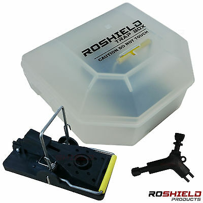 2 x Roshield Mouse / Mice Trap Snap Box - Safe for children and pets - Lockable