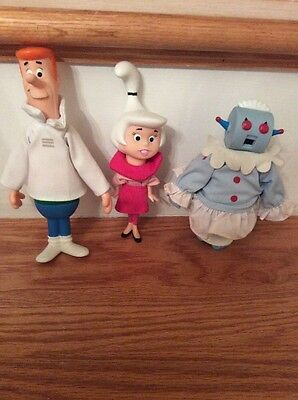 "RARE George, Judy Jetson & Rosie 7"" with Removable Clothes!  Vintage! FREE SHIP"