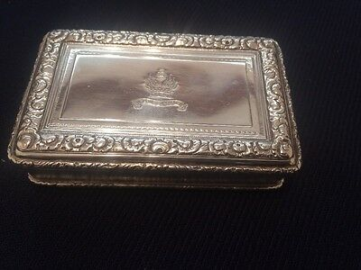 Antique Victorian Solid Silver Snuff Box LONDON 1848-ED EDWARDS SUPERB.