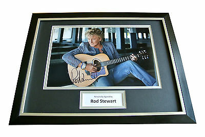 Rod Stewart Hand Signed & Framed Autograph Photo Mount Display Music Gift & Coa