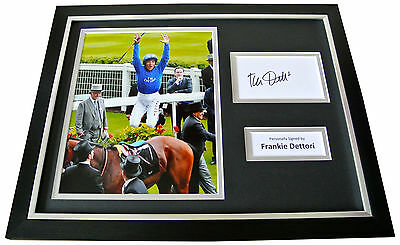 FRANKIE DETTORI Signed Framed Photo Display AUTOGRAPH Horse Racing Jockey & COA