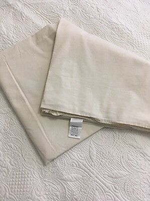 M&S Marks And Spencer 100% Cotton Double Flat Sheet In Cream Ivory Colour