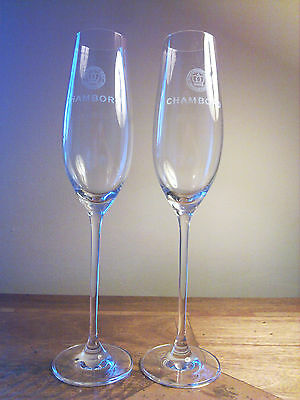 CHAMBORD FLUTE GLASS x 2 (TWO) - NEW - FREE UK POSTAGE