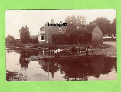 Grove Ferry Upstreet Nr Canterbury RP pc  used 1904 Carpenter Ramsgate Ref A838