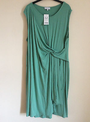 Next Maternity Mint Green Jersey Sleeveless Wrap Dress, Size 22, BNWT