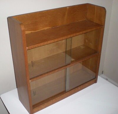 Vintage Retro Odhams Bookcase, Glazed Fronted Bookcase, , Mid Century Display