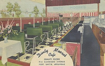 ARKANSAS, Dinty Moore's Cafe, Fort Smith, Curt-Teich, Posted 1953
