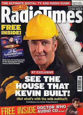 Radio Times 3 May 2008 . Grand Designs Cover . Free Doctor Who Cd Included