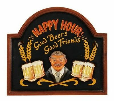 Ram R427 Wooden Happy Hour Pub Sign 3D Art with FREE shipping