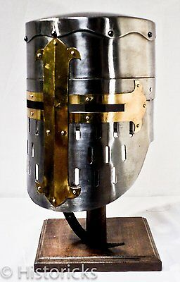 Medieval Knight Helmet - full size with fitted liner