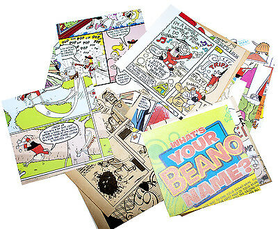 "Craft scrapbook paper pieces x 50 old children's annuals 4"" squares beano dandy"