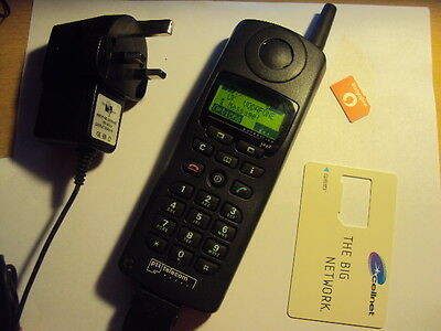 RETRO COLLECTIBLE  SIEMENS S3 COM POCKETLINE JAZZ WORKING Rare SMS  +CHARGER