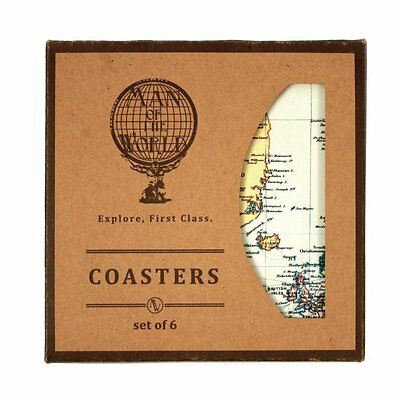 Man of the World Set of 6 Coasters