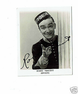 Robbie Vincent Theatre comedian and actor Hand signed  Vintage Photograph  3 x 2