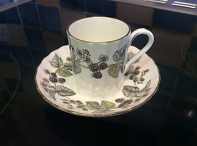Royal Worcester Lavinia Cream Coffee Can / Cup & Saucer, Fine bone China