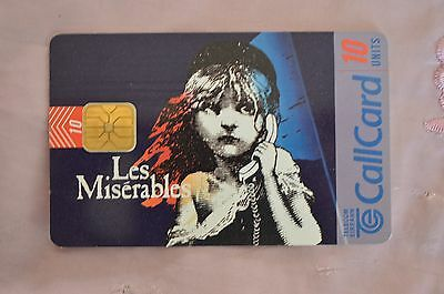 Collectable Phone Callcard - Les Miserables