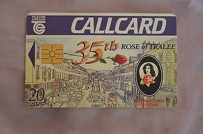 COLLECTABLE PHONE CALLCARD - 35th ROSE OF TRALEE