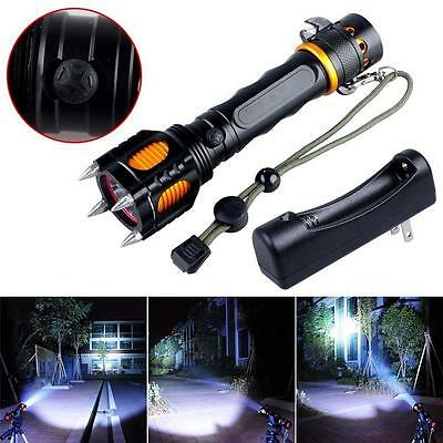 8000Lm CREE XM-L T6 LED Flashlight Multifunction Torch + 18650 Charger