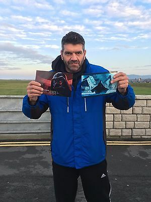 Signed Spencer Wilding Darth Vader Star Wars Rogue One Photo. Personalised