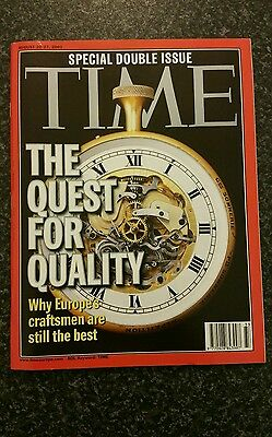 Time Magazine Vol 158 No 8: 20th/27th Aug 2001 - Quest For Quality Double Issue