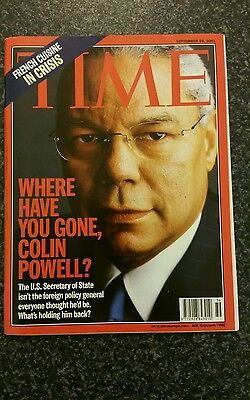 Time Magazine Vol 158 No 11: 10th Sep 2001 - Where Have You Gone, Colin Powell?