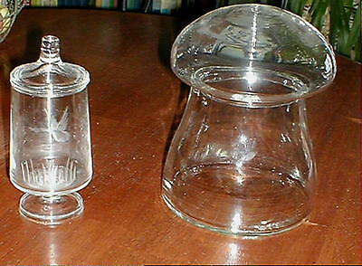 Vintage Apothecary Jars Lot Of 2 Candy Buffet Shower Wedding Display
