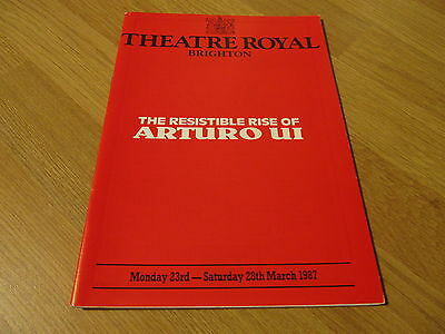 1987 Theatre Royal Brighton Programme 'Arturo Ui'(Adolf Hitler) Griff Rhys Jones