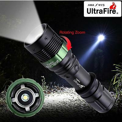 Ultrafire 6000 LM Zoomable CREE XML T6 LED Flashlight 18650 AAA Battery Torch FT