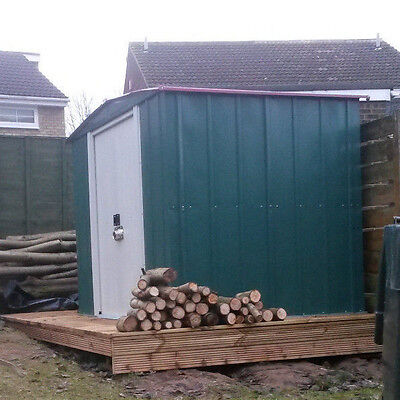 NEW Arrow Apex Metal Garden Shed - 6 x 5ft Outdoor Storage Sheds Tools