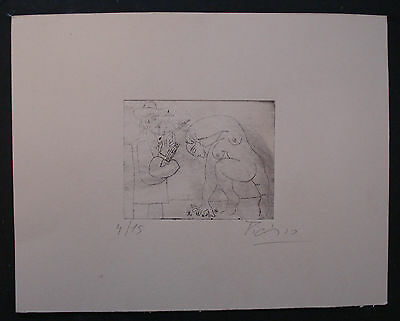 PABLO  PICASSO    Engraving on cardboard. signed and numbered.