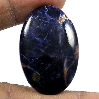 30.95 cts 100% Natural Elegant Sodalite Oval Loose Gemstone Cabochon For Jewelry