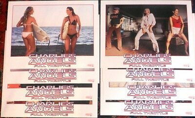 Charlie Angels Full Throttle Original Lobby Cards Set(8X10 Inchs) Sealed