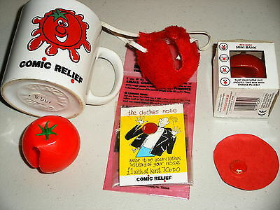 Red Noses etc. comic relief 1993, 1997, 1999