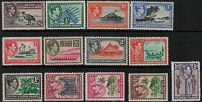 Solomon Islands 1939-1951 SC 67-79 Set LH CV $57.25