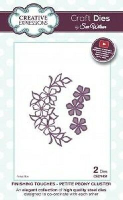Sue Wilson FESTIVE COLLECTION Petite Peony Flower Cluster CED1451 2 Dies