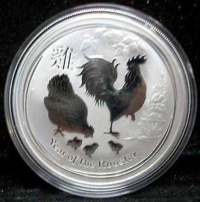 2017 AUSTRALIAN LUNAR YEAR OF THE ROOSTER 1 oz. .9999 FINE SILVER COIN *BU*