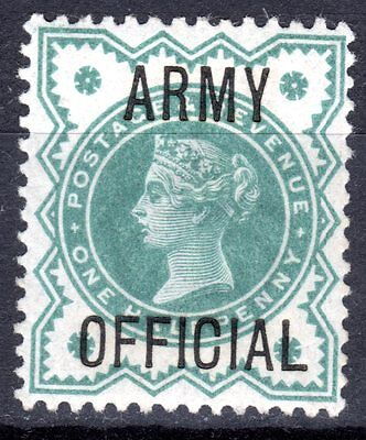 (445)  VERY GOOD QV 1/2d BLUE/GREEN ARMY OFFICIAL LIGHTLY MOUNTED MINT