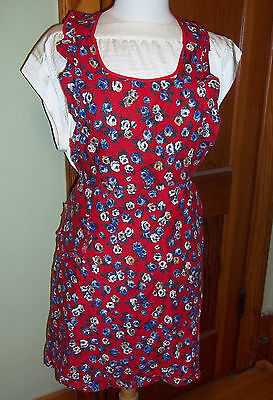 Vintage Hand Made Cotton Pullover Bib Apron