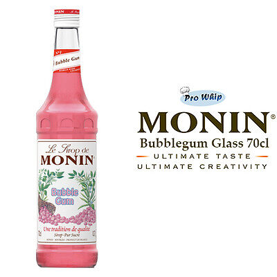MONIN Coffee Syrups - 70cl Glass BUBBLEGUM Syrup - USED BY COSTA COFFEE