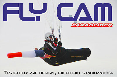 "New ""Chase Cam"" for paramotor & paragliding, New Design ""FLY CAM"""