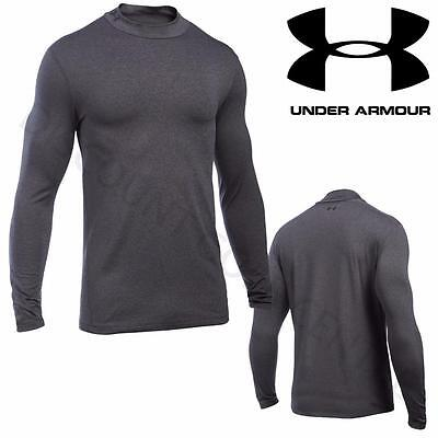 Under Armour Ua Men's Coldgear® Long Sleeve Fitted Mock - Large - Carbon Heather