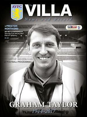2016/17 - ASTON VILLA v PRESTON (GRAHAM TAYLOR TRIBUTE EDITION - 21st Jan 2017)