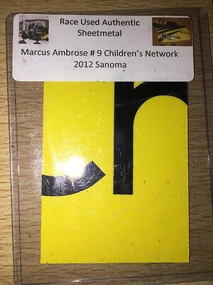 Marcus Ambrose 2012 Sonoma NASCAR Authentic Race Used Sheet Metal
