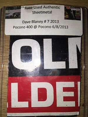 Dave Blaney Pocono 400 2013 NASCAR Authentic Race Used Sheet Metal