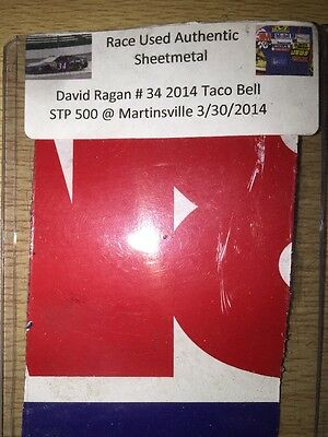 David Ragan 2014 Taco Bell Martinsville NASCAR Authentic Race Used Sheet Metal