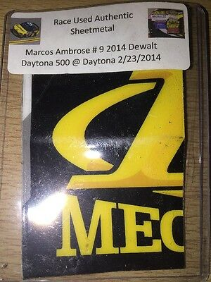 Marcos Ambrose 2014 Daytona 500 NASCAR Authentic Race Used Sheet Metal