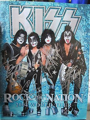 Kiss Rock the Nation Tourbook Signed All Four Members